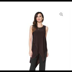 Last Tango asymmetrical layered sleeveless tunic